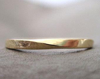 Mobius Ehering Quadrat Profil Mobius Ring In 14k von Benati