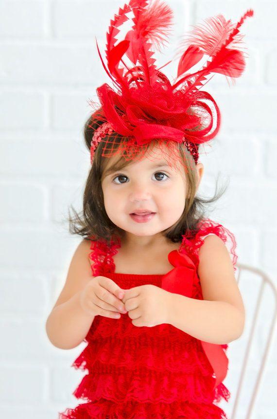 d42804812 Toddler Fascinator, Baby Little Girl's Fascinator, Tea Party Hat ...