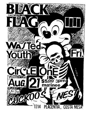 Black Flag Mickey Mouse Flyer