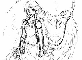 Princess Mononoke Moro Coloring Pages