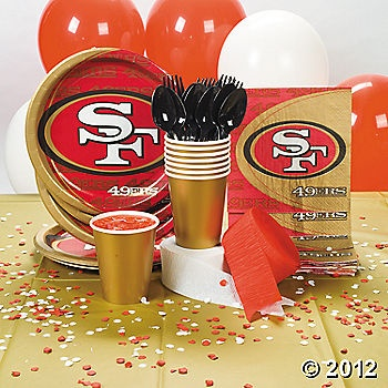NFL® San Francisco 49ers™ Basic Party Pack - OrientalTrading.com