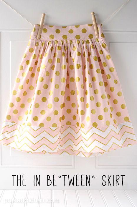 Tween Skirt Sewing Tutorial