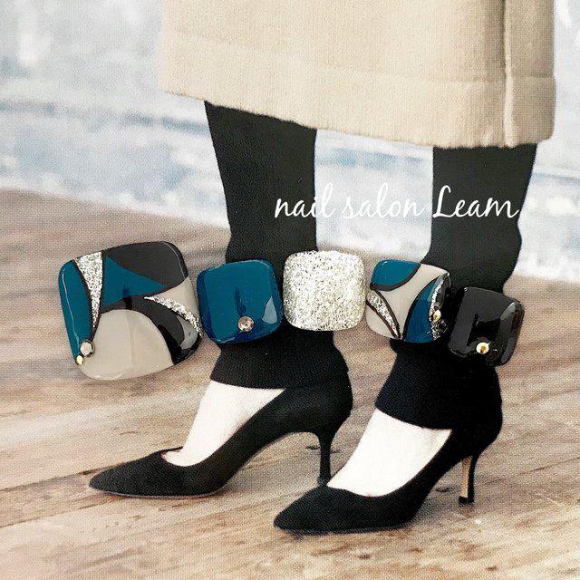 秋/冬/デート/女子会/フット - nail  salon Leamのネイルデザイン[No.2626402]|ネイルブック