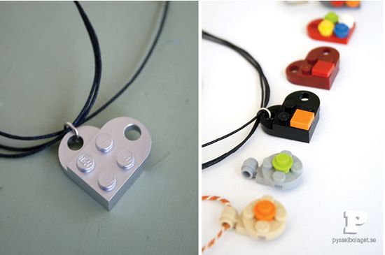 DiY Lego necklaces, bracelets, and earrings. Woah now, that is one snazzy idea!