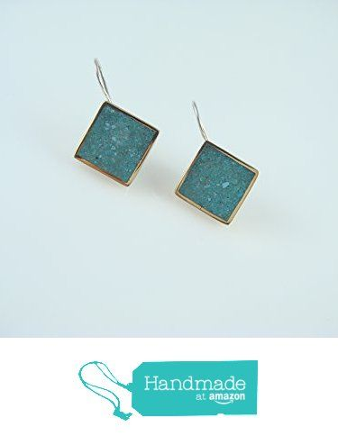 Sterling Silver Turquoise Color Mosaic Gold Plated Diamond Earrings from echmeck https://www.amazon.com/dp/B06XZBLCWF/ref=hnd_sw_r_pi_dp_C.mbzbJWA2BF5 #handmadeatamazon