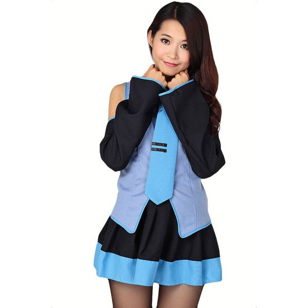 blue cartoon k on cosplay sexy school girl halloween sexy costume 26 - Cute Halloween Costumes For School