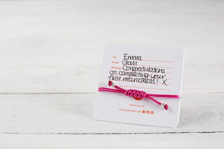 Lovely gift card for runners.