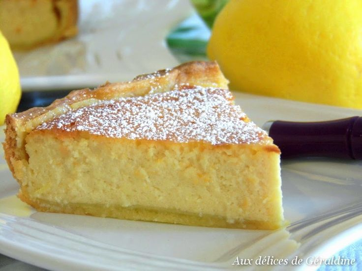 Aux délices de Géraldine: Tarte ricotta-citron