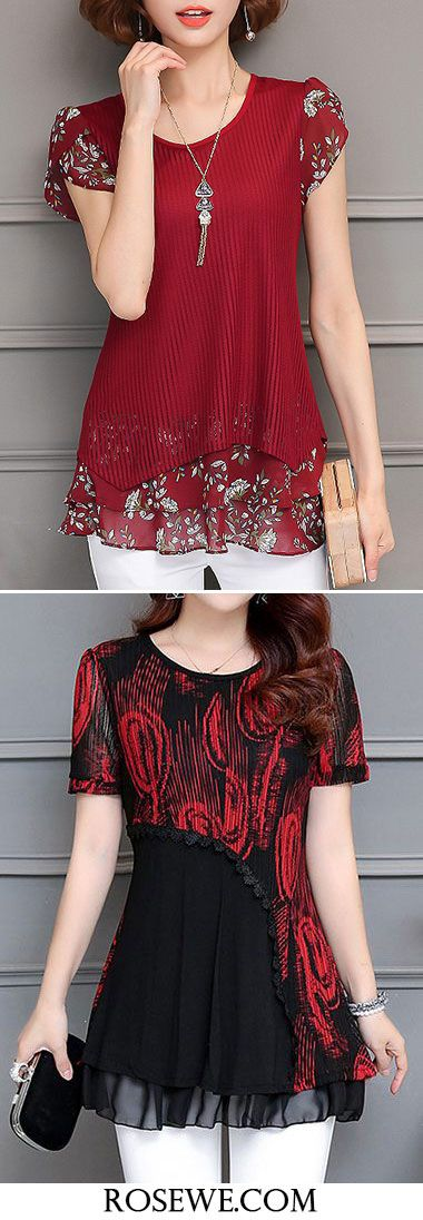 Cute tops for women at Rosewe.com, free shipping world, check them out.