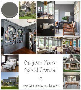 Benjamin Moore Kendall Charcoal · FarbpalettenNeutrale MalfarbenFarbschemenHolzkohle  FarbeGraue ...