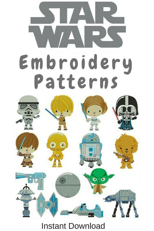 Star Wars Embroidery Patterns Downloadable Ad Embroiderydesign