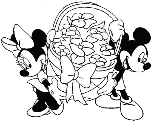 mickey mouse easter coloring pages | 52 best Spring and Easter crafts images on Pinterest ...