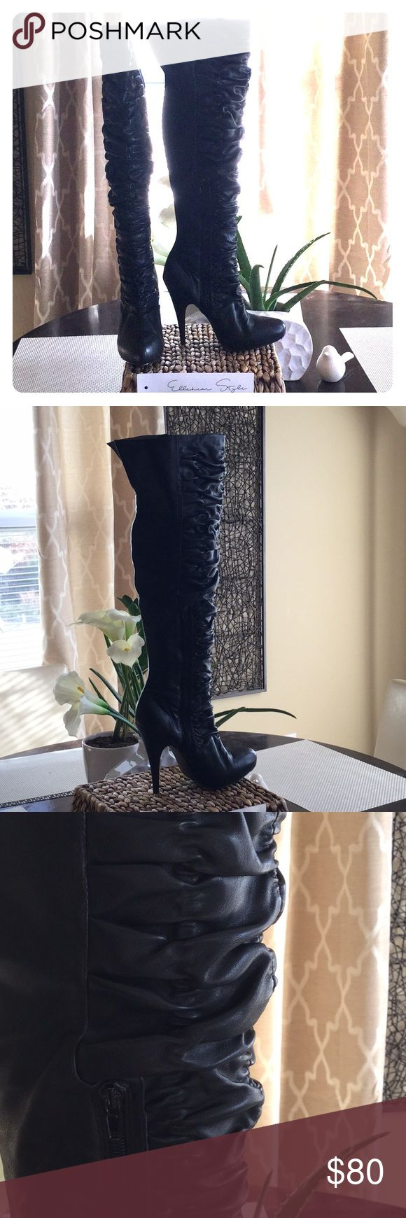 """Carlos Santana Kino Over The Knee Boots Pre-Owed Sexy but yet Elegant 