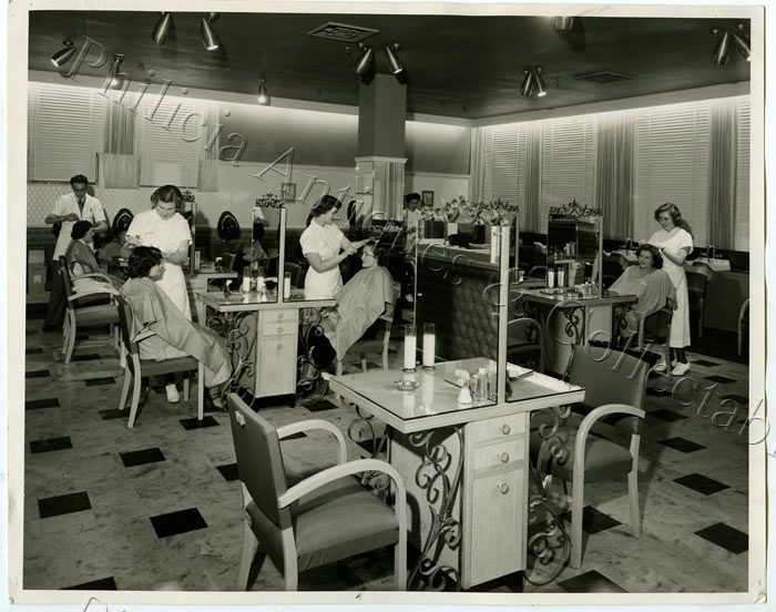 1950 Opening Day Of The Shergis Salon In John Martins