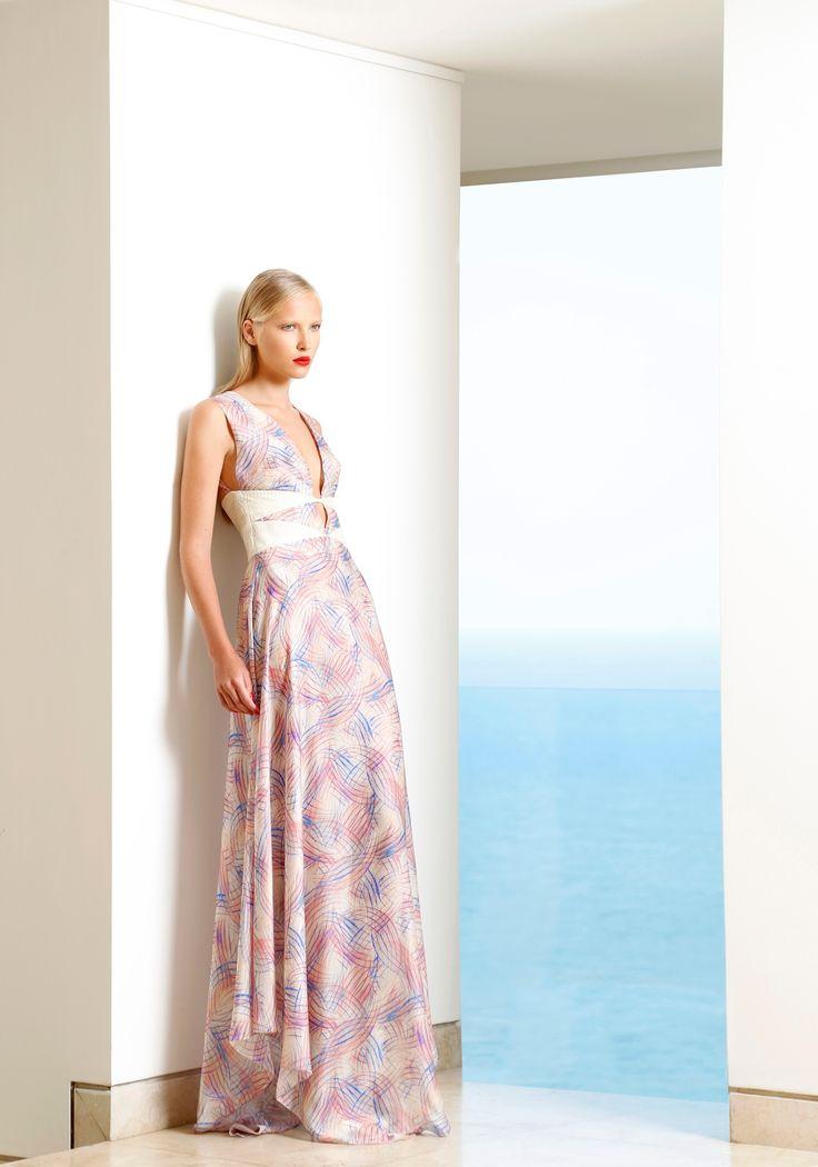 Spectrum print dress