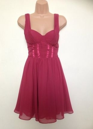 Buy here at #vinteduk http://www.vinted.co.uk/womens-clothing/party-and-cocktail-dresses/347315-hm-by-night-rose-pink-chiffon-dress-uk-size-10-sorry-no-swap
