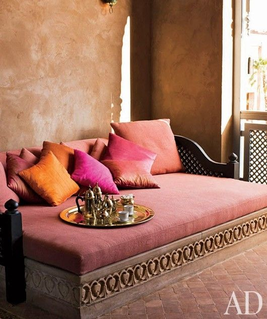 ethnic seating with silk cushion