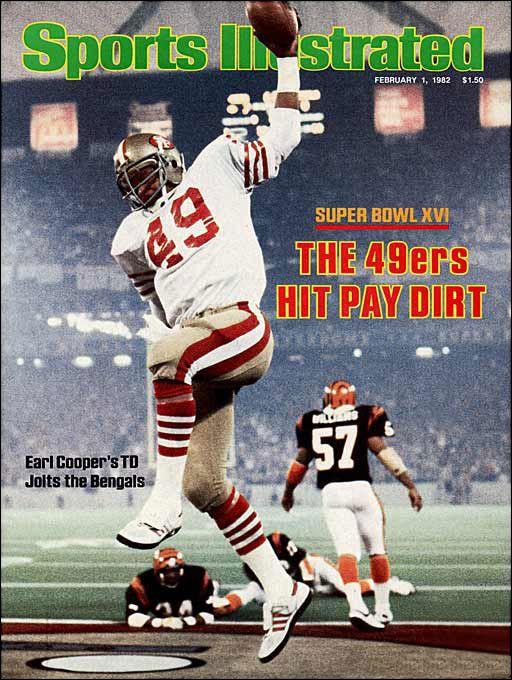 Super Bowl XVI--The San Francisco 49ers, behind Joe Montana, defeat the Cincinnati Bengals 26-21. (1982)