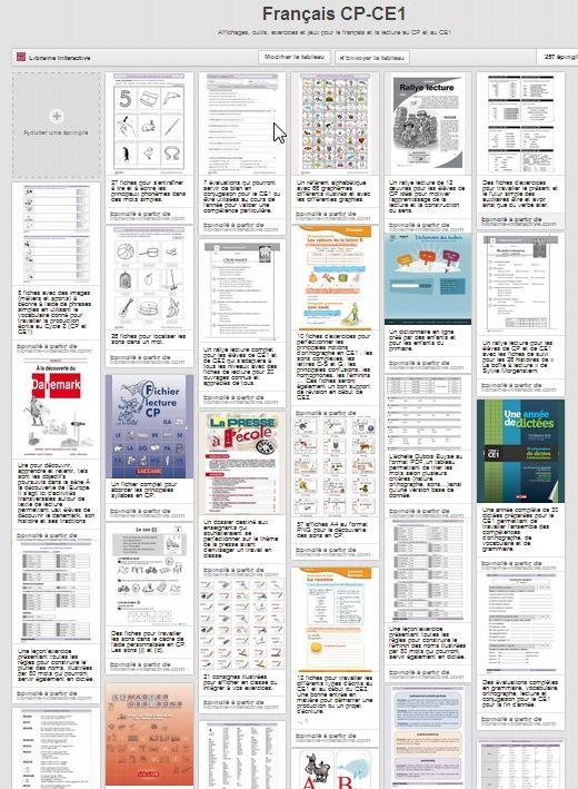 Plus de 250 liens vers des exercices, des leçons et des jeux pour apprendre le français et la lecture au CP et au CE1.