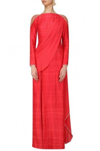 Amaira Gulal Kurta Pant Set with Draped Dupatta #happyshopping #shopnow #ppus
