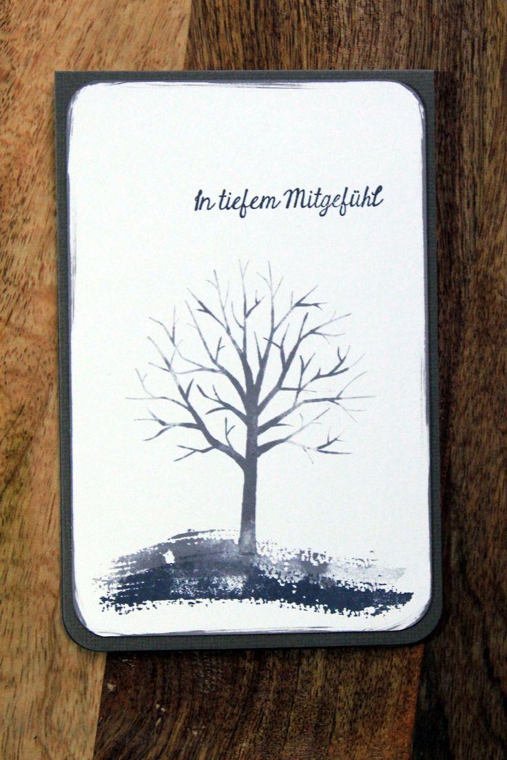 """Schlichte Trauerkarte mit dem Stampin` Up Stempelset """"Baum der Freundschaft"""". Zuerst gebloggt auf Leben am Rande der Zivilisation."""
