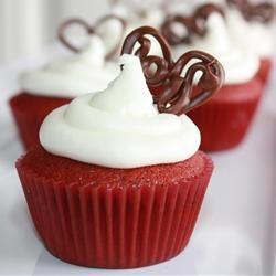 Cupcakes Red Velvet de la Saint Valentin