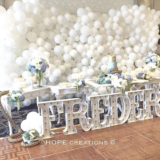 Fit for a prince ... Little peek of Frederick's christening ❤️@sevnehme Styling @hope_creations_marynehme  Florals @crazyaboutflowers  Desserts @sugarhighdesserts  Cake @scarletjadeaustin  Balloons @bubblemooballoons  Lights @letterlightssydney  Consoles, mirror ,vases @maryronisevents  Cake stands @stylish.touch  Seating frame @lure_sydney