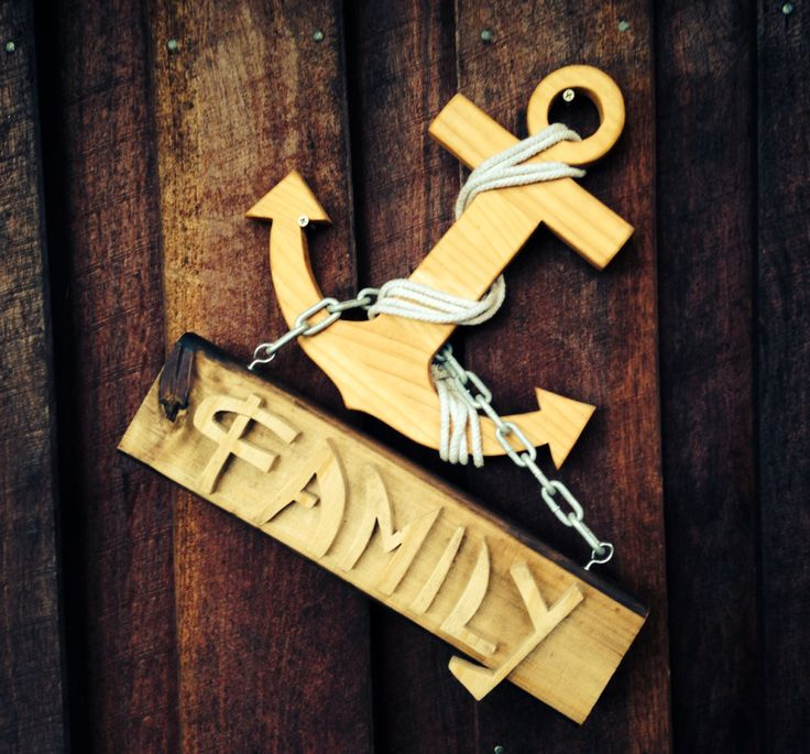 Custom recycled timber family anchor. 100% recycled and Australian made!