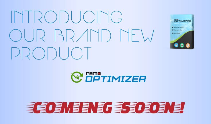 Introducing our brand new product : Remo Optimizer