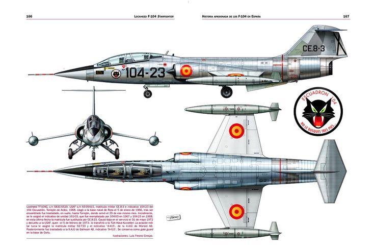 """F-104G Starfighter, Ejército del Aire """"EA"""""""