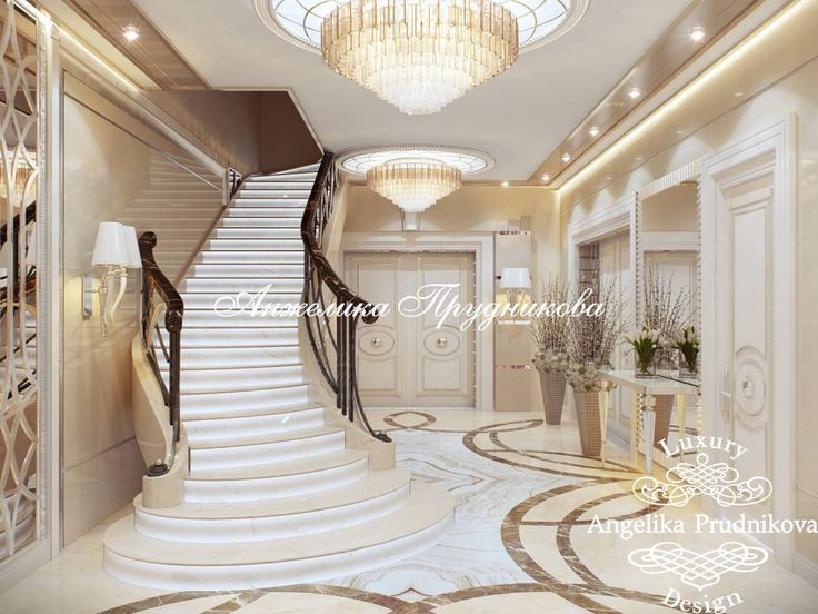 Дизайн интерьера холла в стиле Ар Деко. Мебель - фабрика Visionnaire. Фото 2017 - Дизайн дома