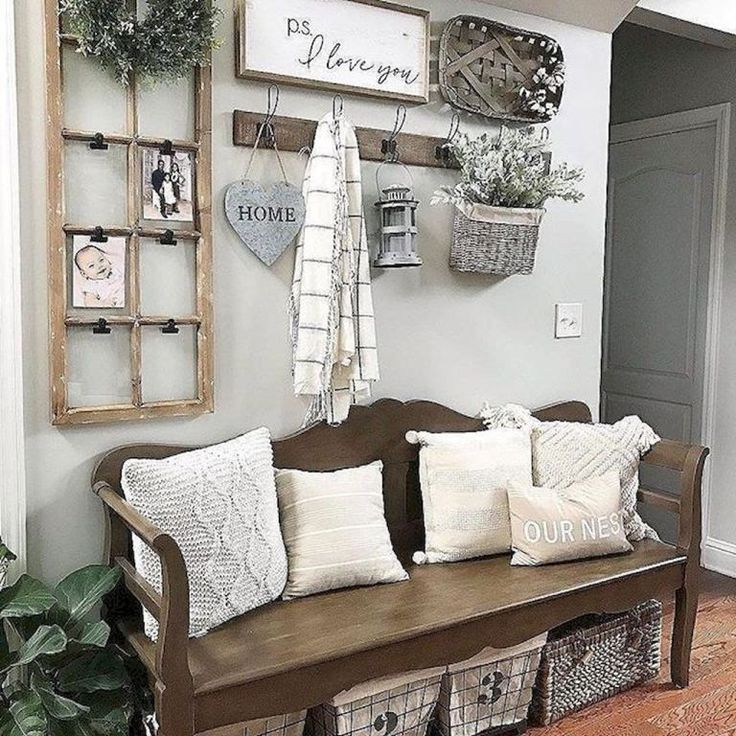 50 Inspiring Farmhouse Entryway Decor Ideas Entryways That Are Modern And Rustic Trendy And Whi Farmhouse Decor Living Room Farm House Living Room Home Decor