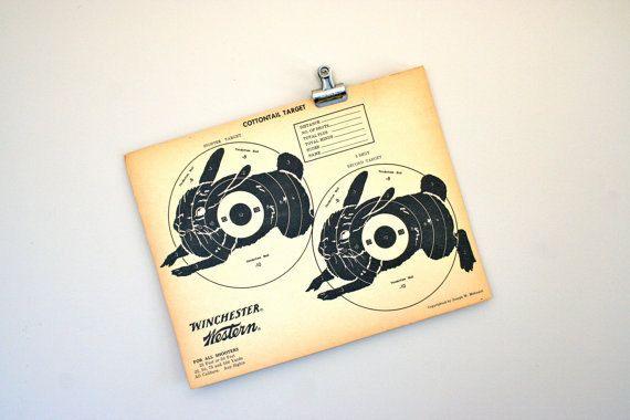 vintage paper shooting target by LegalMissSunshine on Etsy, $12.00
