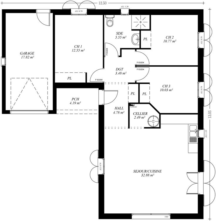 217 best Plan Maison images on Pinterest Floor plans, Dream home - plan maison r 1 gratuit