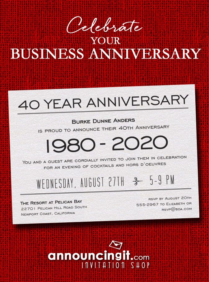 anniversary shimmery white 9 business invitations pinterest