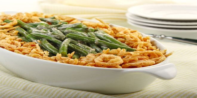 Classic Green Bean Casserole - Plant-Based Diet and Nutritional Organic Superfoods