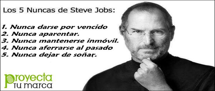 Las citas y frases más célebres de Steve Jobs – Empresario de Éxito, creador de Futuro.  - Proyecta Tu Marca- www.proyectatumarca.es