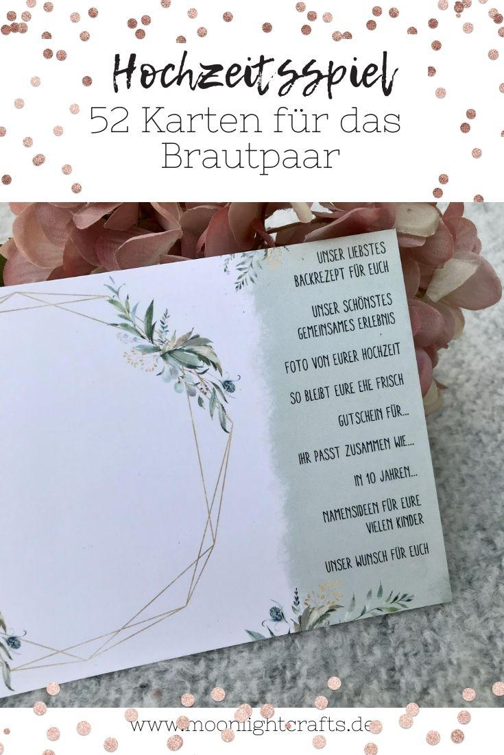 Hochzeitsspiel 52 Karten Wedding Dream Wedding Wedding Accessories