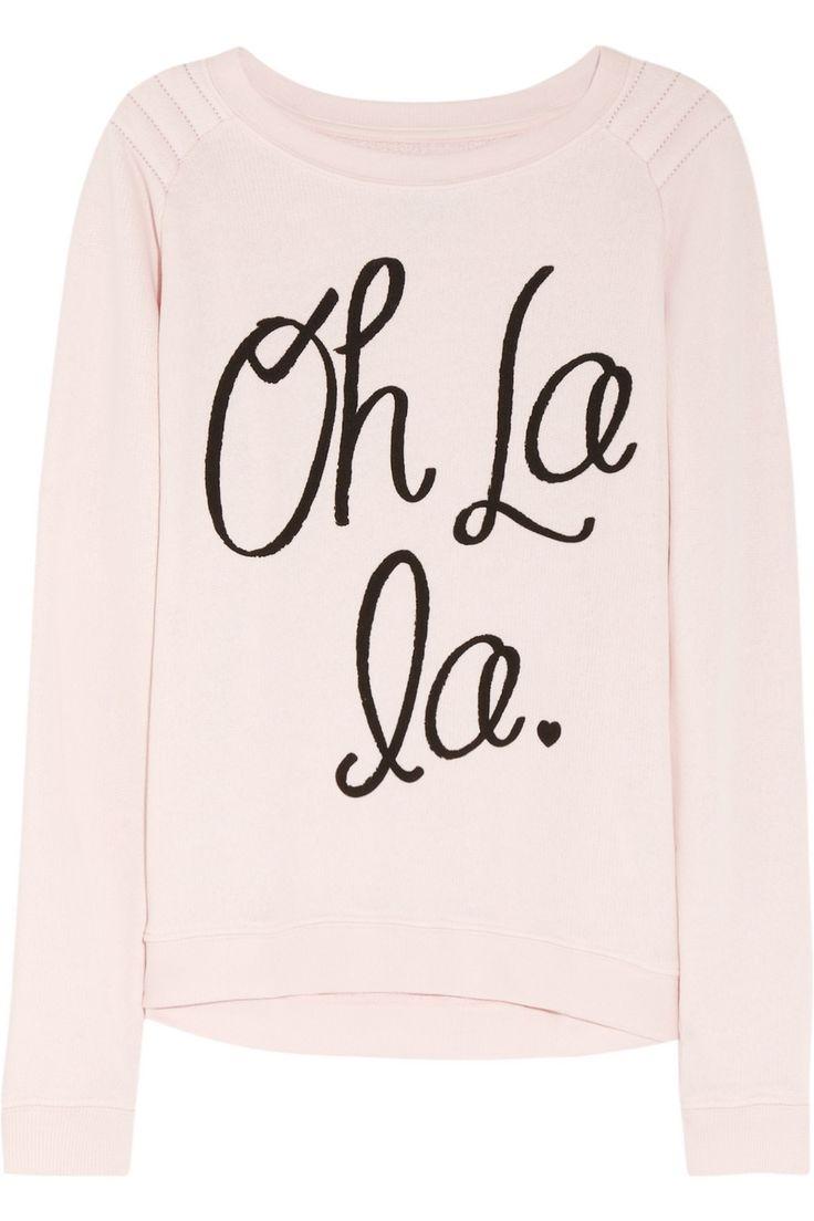 Zoe Karssen|Oh La La cotton-blend jersey sweatshirt|NET-A-PORTER.COM