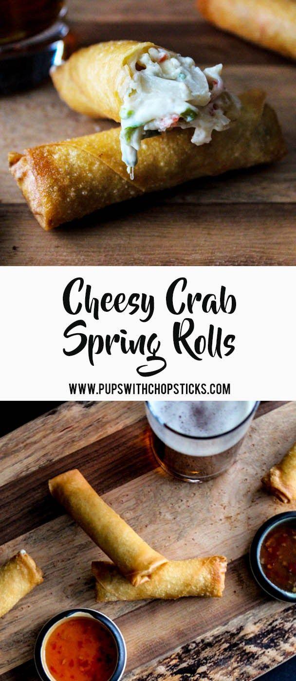 Cheesy Crab Spring Rolls