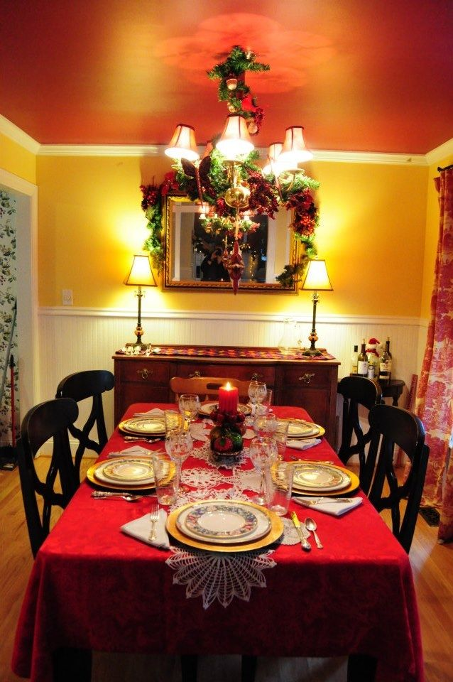 Dining Room Christmas Decorations 206 best christmas dining room images on pinterest | christmas