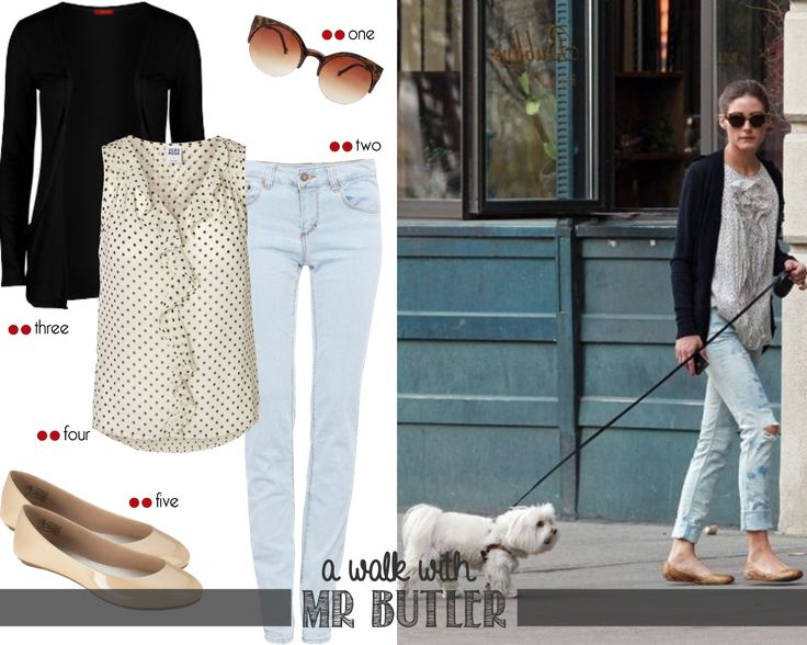 Let's go for a walk Mr Butler! | http://getthelookoliviapalermo.blogspot.com.es