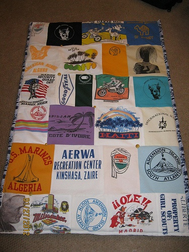 tshirt quilt - done