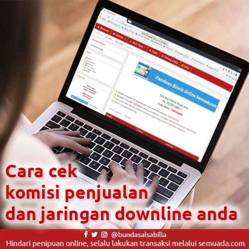 Cara cek komisi penjualan dan jaringan downline anda  👉 https://semuada.com/peluang-usaha/152-cara-cek-komisi-penjualan-dan-jaringan-downline-anda
