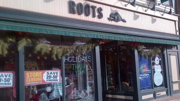 The Roots store in downtown Charlottetown, the last Roots retail franchise in Canada, will close Jan. 3.