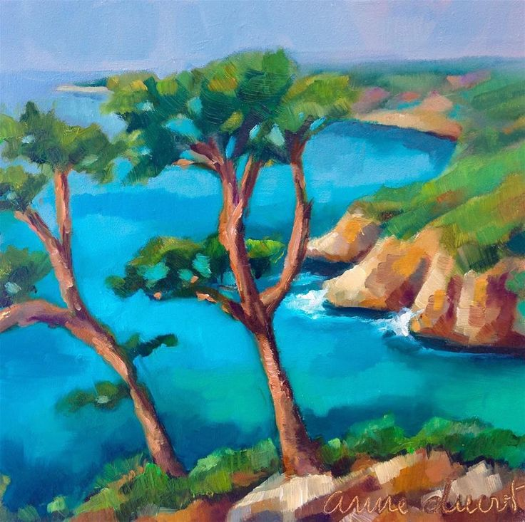 """""""Provence by the Mediterranean"""" original fine art by Anne Ducrot"""