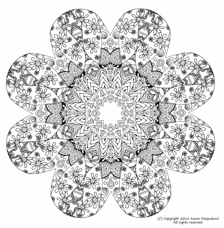 69 best Mandala Coloring Pages images on Pinterest Coloring