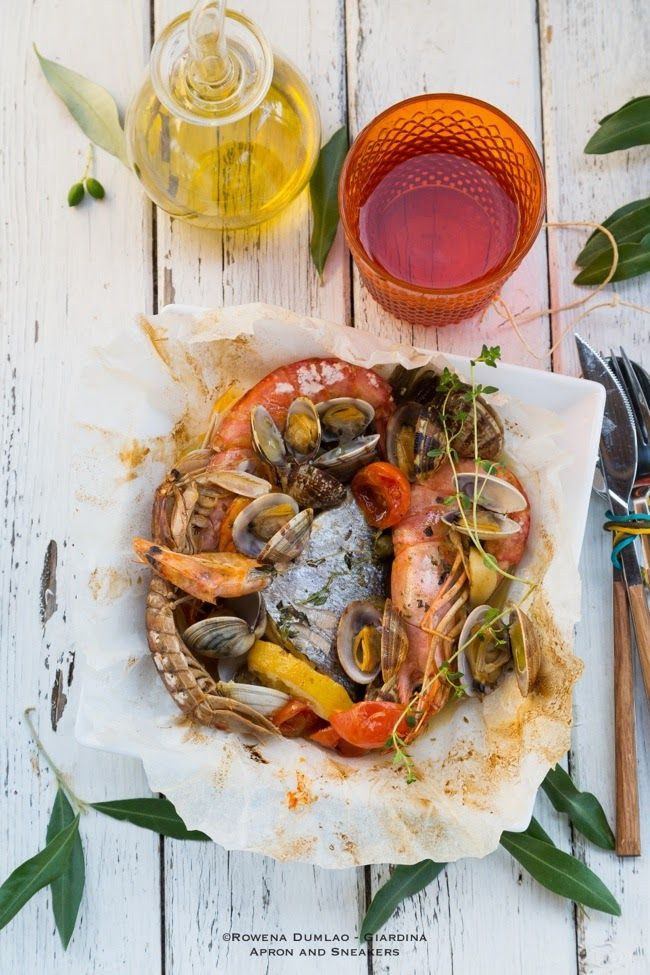 Apron and Sneakers - Cooking & Traveling in Italy and Beyond: Frutti di Mare al Cartoccio (Baked Seafood Pouches)