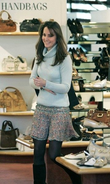 Kate Middleton, Prince William's girlfriend, enjoys a bit of shopping at Russell and Bromley in London. Kate looks at shoes and handbags, but leaves empty-handed.