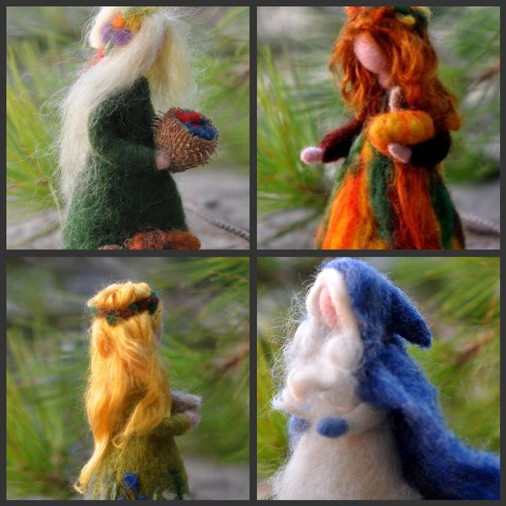 Needle Felted Waldorf Wool Fairy-Summer-Waldorf inspired standing doll-soft sculpture -needle felt by Daria Lvovsky. via Etsy.